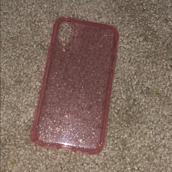 new product 177b3 b7e49 Clear Glitter iPhone X Case